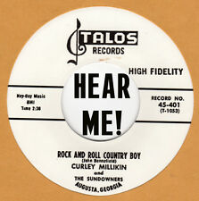 ROCKABILLY REPRO: CURLEY MILLIKIN - ROCK & ROLL COUNTRY BOY / WHY DID I HAVE TO
