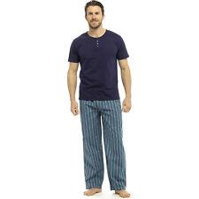 Mens Pyjamas Short Sleeve T Shirt Top Trousers Pjs Nightwear Lounge Wear Pants