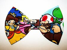 NEW FABRIC HAIR BOW W/ALLIGATOR CLIP* Mario Bros Yoshi Nintendo *Handmade USA* C
