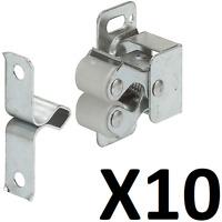 X10 Twin Cupboard Roller Catch Steel - Sprung - Bright Galvanized - 244.01.903