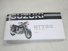 Suzuki 1975 GT750  owners manual