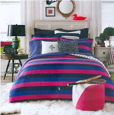 Tommy Hilfiger Varsity Stripe Twin Comforter Set 1 Sham Pink Black Blue $135