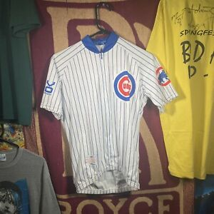 Chicago Cubs VOmax Pin Stripped Cycling Jersey Size Small