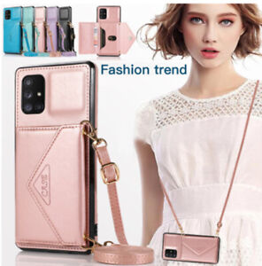 Cross-body Flip Leather Case Wallet Card Phone Bag For Samsung S21 Ultra S20 FE