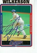 BRAD WILKERSON SIGNED 2005 TOPPS #75 - MONTREAL EXPOS