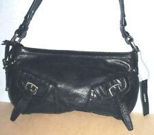 DKNY Donna Karan Small Brown Burnished Leather Shoulder Bag 573f4cf2dd