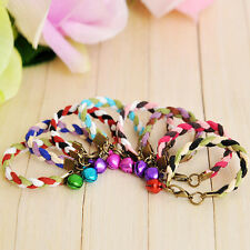 Lot Small Dog Collar Cat Collars Pet Strap Necklace With Bell Wholesale Fashion