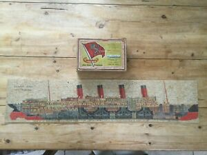CHAD VALLEY CUNARD LINER AQUITANIA sectional View, rare, WOODEN JIGSAW VINTAGE