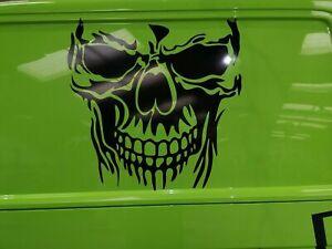 large skull grim reaper car bonnet side vinyl stickers graphic decal wall art vw