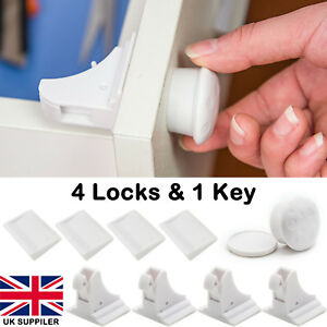Invisible Magnetic Child Baby Pet Proof Cupboard Door Drawer Safety Lock Catch