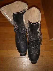 """Vintage BETTY LYTLE """"Styled by HYDE"""" Capped Toe Roller Skates Size 8 1/2"""