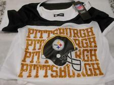 Too Cute! New Pittsburgh Steelers Girls Jersey Crop Over Top Size 12/14 S189