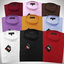 Daniel Ellissa Mens Nehru Collar Dress Shirt Light Medium Weight Fabric