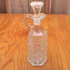 Clear Glass Diamond Pattern Cruet Bottle With Stopper