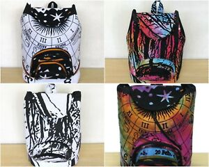 5 Pcs Wholesale Lots Indian Man Woman Backpack Cotton Fabric Hippie Sport Bags