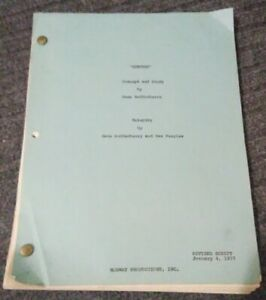 Specter Concept And Story By Gene Roddenberry Revised Script 1977