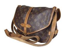 LOUIS VUITTON Saumur 30 Monogram Canvas Leather Crossbody Shoulder Bag LS3026