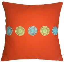 Orange Doily Decorative Throw Pillow Cover / Cushion Cover 20x20""