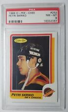 1986 O Pee Chee #252 Petri Skriko Rookie Card RC Canucks NHL PSA 8 NM-MT