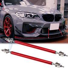 Red Adjust Front Bumper Lip Splitter Strut Rod Tie Support Bars For BMW 8