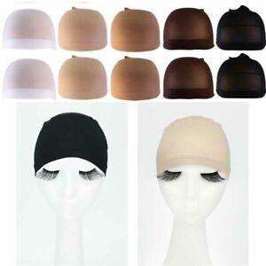 Wig Cap Breathable Mesh Net Stocking Nylon Stretch Hair Liner Unisex Pack of 10