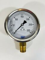 Wika Pressure Gauge 3000 PSI Liquid Glycerin Filled PARTS ONLY Steampunk Art