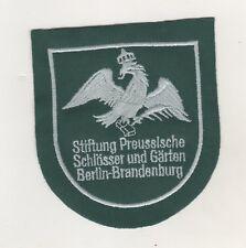 Aufnäher Patches Stiftung Preußischer Schlösser Gärten Berlin Brandenburg / Grün