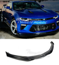 For 16-Up Camaro SS Front Bumper Lip Carbon Fiber V8 R Style W/ Side Pieces