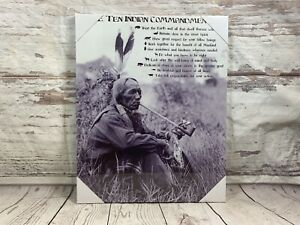 Ten Indian Commandments Native American Canvas Picture American Indians Tribes