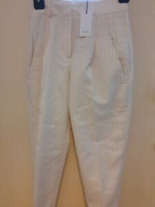 REISS White Shelby Stripe Trousers Size UK 8, US 4  New with Tags Retails £180