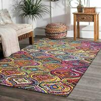 Handmade Living Dining Bed Room Rug Carpet Dhurrie 4 X 6 Feet