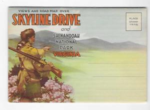 VINTAGE-POSTCARD FOLDER-SKYLINE DRIVE & SHENANDOAH NATIONAL PARK-VIRGINIA