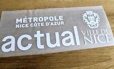 Patch Flocage Sponsor OGC Nice Maillot porté Domicile - Blanc ou Noir