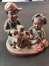 "Sarah's Attic Resin Figurine ""Brotherly Love"" Black Americana"