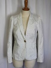 J Crew Puff Sleeve Blazer In Triangle Dot Marine Salt Size 6 NWT A5673 $188