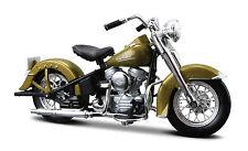 Harley Davidson 1953 - 74FL Hydra Glide 1:18 verde Modelo de Motocicleta maisto