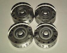 Silver Volume Tone Speed Control Knob for Gibson Epiphone Guitar Metric Pot