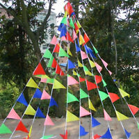 80M Triangle Flag Pennant String Banner Bunting for Festival Party Holiday Decor