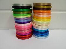 "2 rolls 6mm 1/4"" Satin Ribbon 26 metres UK Wedding Christmas craft UK VAT Reg"