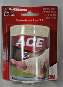 ACE Self-Adhering Elastic Bandage 3 Inch Width Adjustable 1 Each