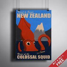 A3 grandes Nueva Zelanda Cartel Turismo Retro Vintage De Viajes Pared Art Decó de imagen