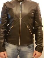 Versus Versace leather bomber jacket size EU 52 UK XL in black bu50078