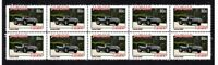 JAGUAR XKSS AUTO ICONS STRIP OF 10 MINT VIGNETTE STAMPS #1