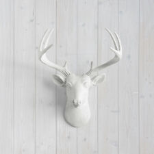 Wall Charmers White Mini Deer Faux Head Fake Animal Stag Buck Antler Taxidermy