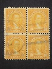 RIV: US Used 591 Block of Four FRESH 10 cent 1925 perf 10 issue Monroe mint 2R