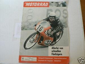 MOTORRAD 1961-18 HANS G ANSCHEIDT KREIDLER FLORETT,ZUNDAPP KS75 GELANDESPORT TES