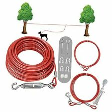 New listing Dog Tie Out Cable Set -100 Ft Aerial runner cable Runner System 100 ft Cable