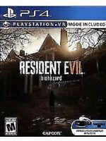 Resident Evil 7 Biohazard Ps4 Game VII PlayStation 4 W/VR  Mode