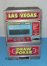 Las Vegas Draw Poker Electronic Slot Machine Bank WORKS Royal Flush 3000 Vintage