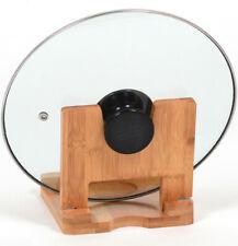 Bamboo Folding Pot Lid Holder Vertical Kitchen Utensils Rack Wood Lid SpoonRack